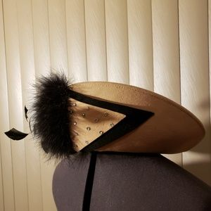 EUC Beautiful Church Hat with Feathers